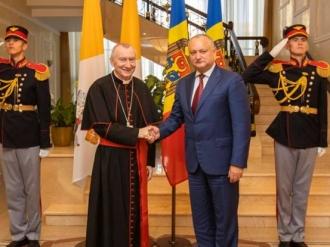Igor Dodon, la discuții cu o delegație din Vatican