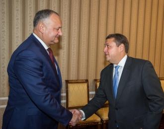 Igor Dodon, la discuții cu reprezentanții FMI