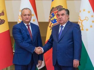 Președintele Moldovei a avut o întrevedere de lucru cu Preşedintele Tadjikistanului