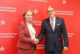 Zinaida Greceanîi a avut o întrevedere cu ambasadorul României