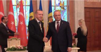 """Președintele Turciei, decorat cu """"Ordinul Republicii"""""""