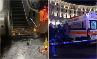 20 de răniţi, după ce o scară rulantă de la metrou a cedat. Un bărbat a rămas fără picior