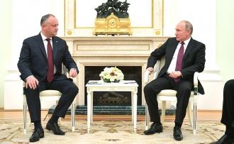 Înterevedere Dodon-Putin