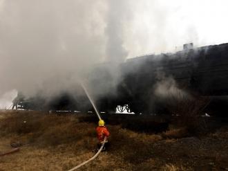 Un marfar a luat foc în apropierea satului Stolniceni