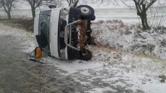 Un microbuz de pe ruta Chișinău-Cahul s-a răsturnat; Patru peroane, transportate la spital