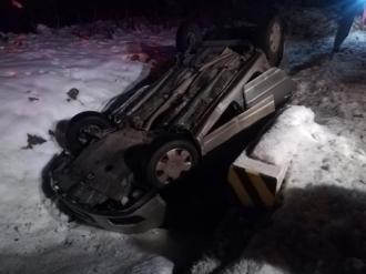 Un automobil înmatriculat în RM s-a răsturnat pe un traseu din România
