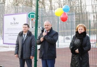 Un nou complex sportiv, inaugurat în raionul Briceni
