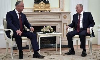 Igor Dodon s-a întâlnit cu Vladimir Putin