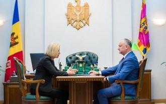 Igor Dodon a  avut o întrevedere cu bașcanul Irina Vlah