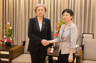 Zinaida Greceanîi a discutat cu vicepreședintele Comitetului orășenesc Shanghai