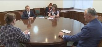 Șeful statului a avut o întrevedere cu Aleksandr Kalinin