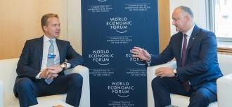 Întrevedere cu Președintele Forumului Economic Mondial