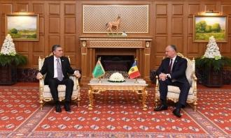 Neutralitatea permanentă și consolidarea relaților comercial-economice, pe agenda președinților Republicii Moldova și Turkmenistanului