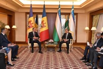 Președintele Republicii Moldova a avut o întrevedere cu Președintele Republicii Uzbekistan