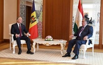 Președintele Republicii Moldova a avut o întrevedere cu Președintele Republicii Tadjikistan