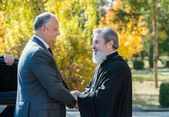 Igor Dodon s-a întâlnit cu episcopul Marchel la reşedinţa Episcopiei din Bălţi