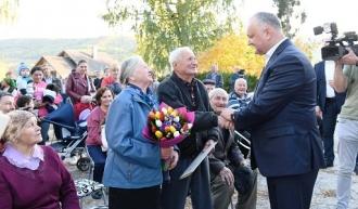 Igor Dodon a vizitat satul său natal, Sadova