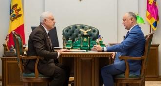 Președintele Igor Dodon a avut o întrevedere cu vicepremierul pentru reintegrare, Vasile Șova