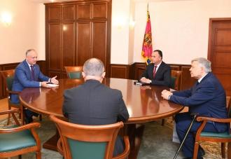 Președintele țării a avut o întrevedere cu fostul rector și cu actualul rector al Universității de Stat de Medicină și Farmacie