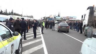 Un nou protest al şoferilor de TIR