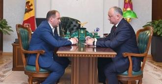 Igor Dodon s-a întâlnit cu primarul Capitalei