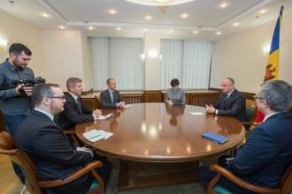 Președintele Republicii Moldova a avut o întrevedere cu noul Ambasador al Marii Britanii