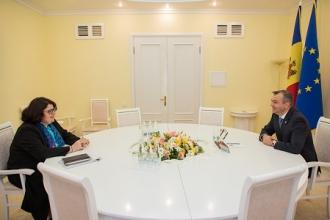 Parteneriatul dintre Guvern şi Banca Mondială, pe agenda de discuţii a Premierului Ion Chicu cu Șeful oficiului Băncii Mondiale, Anna Akhalkatsi