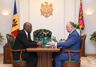 Igor Dodon a avut o întrevedere de lucru cu Ambasadorul Statelor Unite ale Americii în Republica Moldova, Dereck J. Hogan