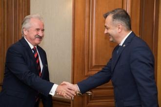 Premierul Ion Chicu s-a întâlnit cu  Ambasadorul Extraordinar și Plenipotențiar al Turciei în Republica Moldova,  Gürol Sökmensüer