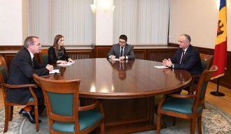 Igor Dodon a avut o întrevedere cu Simon Springett, coordonatorul rezident al ONU în Moldova