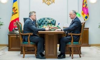 Igor Dodon a avut o întrevedere cu Ambasadorul desemnat al Republicii Moldova în Statul Qatar