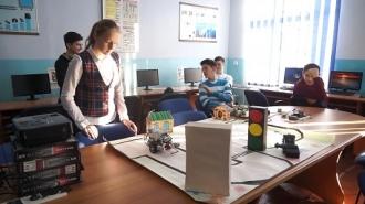 Robot asamblat la școală