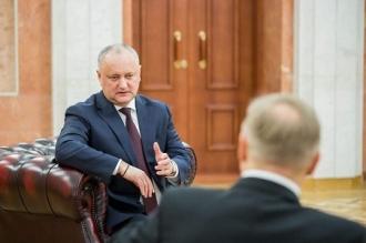 Igor Dodon a primit scrisorile de acreditare din partea a cinci ambasadori agreați