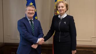 Zinaida Greceanîi a salutat venirea noului ambasador al Irlandei în Moldova