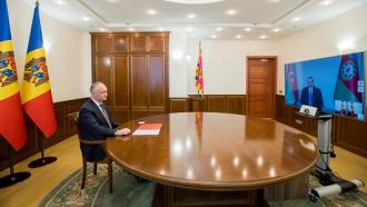 Igor Dodon a discutat cu Ilham Aliyev, Președintele Republicii Azerbaidjan