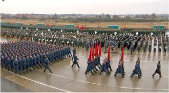 Pregătiri pentru parada militară