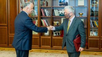 Igor Dodon a avut o nouă întrevedere cu reprezentantul OSCE Thomas Mayr-Harting