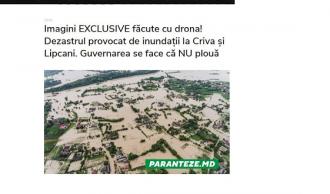 STOP FALS! Imaginile de la inundații, distribuite de PRO Moldova și Candu,  sunt făcute în Ucraina