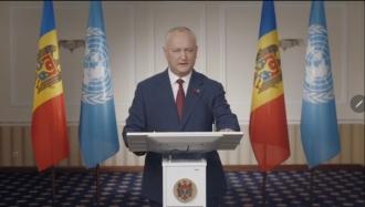 Republica Moldova este un stat neutru și nu va adera la niciun bloc politico-militar, a declarat Igor Dodon la ONU
