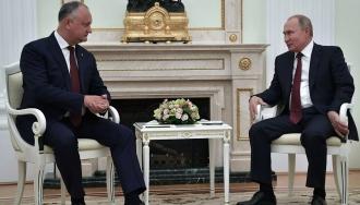 Igor Dodon va avea o teleconferință cu Vladimir Putin