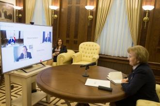 Zinaida Greceanîi a discutat cu conducerea FMI despre noul Program de finanțare a Republicii Moldova