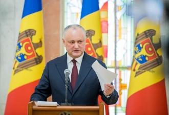 Igor Dodon spune că va lupta pentru statalitatea Republicii Moldova și pentru valorile naționale