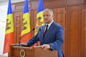 Igor Dodon spune că nu va participa la inaugurarea Maiei Sandu