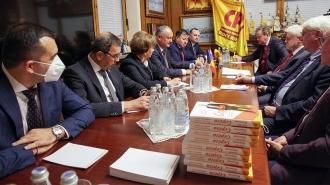 Igor Dodon s-a întâlnit cu liderul partidului Spravedlivaia Rossia