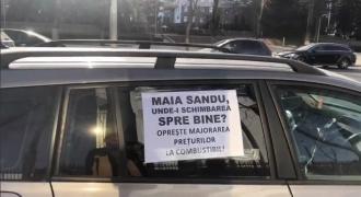 Flash-mob la Președinție! Automobiliștii au claxonat în semn de protest față de prețul la carburanți