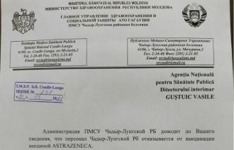 Două scrisori, care confirmă că medicii refuză să se vaccineze împotriva COVID cu AstraZeneca