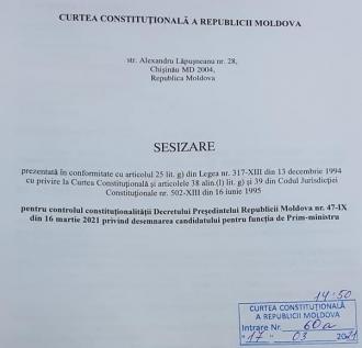 Socialiștii, la CC: Cerem ca decretul Maiei Sandu să fie suspendat și declarat neconstituțional