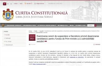 Curtea Constituțională va decide vineri dacă va suspenda decretul de desemnare a lui Igor Grosu