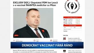 Democrat vaccinat fără rând