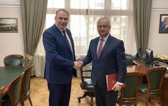 Despre ce au discutat Igor Dodon și Petr Tolstoi, vicepreședintele Dumei de Stat